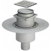Трап HL310 Primus с сухим затвором в полу под плитку для душа ванной и бани D=110- 50mm вертикальный