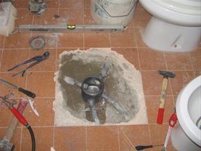 - Impianto di scarico bagno ...